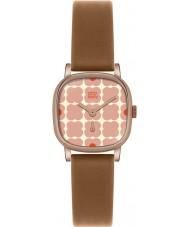 Orla Kiely OK2056 Senhoras cecelia florido rosa tan couro relógio de pulseira