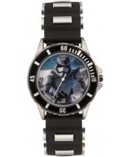 Disney SWM3076 Meninos Storm Trooper relógio com pulseira de silicone preta