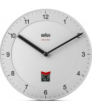 Braun BNC006WHWH-MSF relógio de parede controlado por rádio - branco