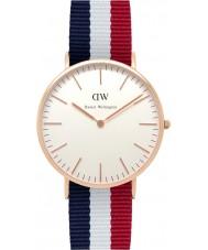Daniel Wellington DW00100003 Mens clássico 40 milímetros Cambridge aumentou relógio de ouro