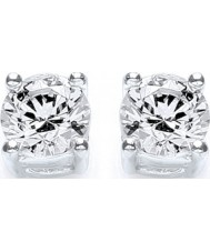 Purity 925 P1640ES1 Senhoras prata esterlina brincos pequenos do parafuso prisioneiro com cristais Swarovski