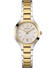 Bulova 98L217 Vestido de damas dois tons pulseira de aço relógio