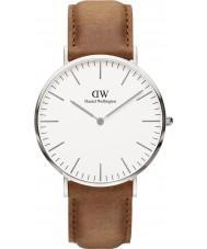 Daniel Wellington DW00100110 Clássico 40 milímetros relógio Durham prata