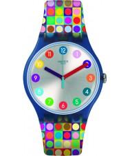 Swatch SUON122 Relógio de rodadas e quadrados
