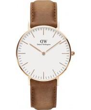 Daniel Wellington DW00100111 Durham 36 milímetros rosa clássico relógio de ouro