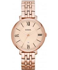 Fossil ES3435 Ladies Jacqueline subiu de tom pulseira de aço relógio de ouro