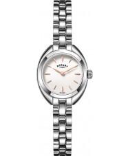 Rotary LB05013-02 Senhoras relógios de prata petite relógio de aço tom