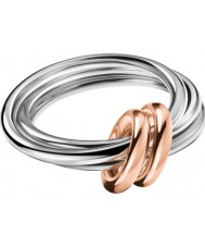 Calvin Klein KJ5HMR2001 Ladies ágil dois tons rosa banhado a ouro anel - tamanho l.5 (6)