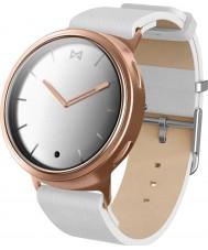 Misfit MIS5003 Fase branco de relógio de couro compatível com Android e iOS