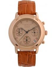 Krug-Baumen 150575DL damas de diamante Princípio subiu relógio cronógrafo de ouro