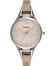 Fossil ES2830 Ladies geórgia relógio com pulseira de couro areia