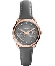 Fossil ES3913 Ladies medida couro cinza pulseira de relógio