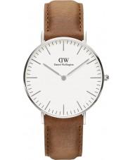 Daniel Wellington DW00100112 Clássico 36 milímetros relógio Durham prata
