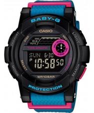 Casio BGD-180-2ER relógio preto azul Baby-g g-lide