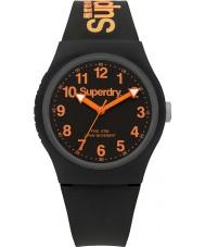 Superdry SYG164B Urban relógio pulseira de silicone preta