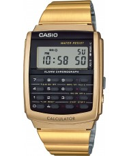 Casio CA-506G-9AEF coleção Mens tom de ouro relógio calculadora