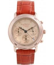 Krug-Baumen 150575DM mens diamante Princípio subiu relógio cronógrafo de ouro
