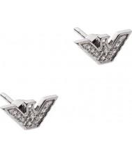 Emporio Armani EG3027040 Senhoras brincos tom de prata esterlina