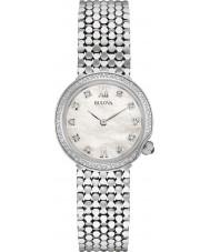 Bulova 96W206 Damas de diamante de aço de prata pulseira de relógio
