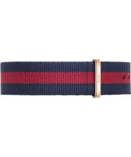 Daniel Wellington DW00200001 Mens clássico 40 milímetros oxford rosa azul e vermelho nylon cinta de reposição de ouro