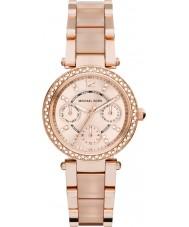 Michael Kors MK6110 Senhoras mini-parker subiu banhado a ouro pulseira de relógio
