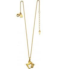 Orla Kiely N4038 Senhoras colar de ouro de coelho de prata com detalhes swarovski