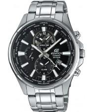 Casio EFR-304D-1AVUEF relógio de prata Mens edifício tempo do mundo