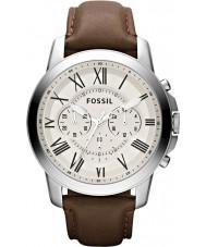 Fossil FS4735 Mens conceder relógio cronógrafo marrom