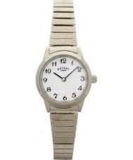 Rotary LB00762 Senhoras relógios de ouro banhado relógio pulseira expansível