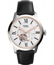 Fossil ME3104 Mens cidadão automática relógio pulseira de couro preta