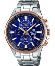 Casio EFR-304PG-2AVUEF relógio de prata Mens edifício tempo do mundo