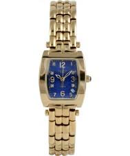 Krug-Baumen 1964DLG Tuxedo ouro 4 diamantes pulseira de ouro mostrador azul