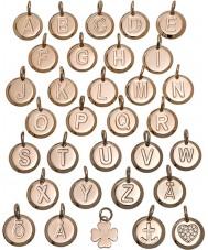Edblad 116130235-S Charmentity s ouro rosa banhado pequeno pingente