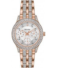 Bulova 98N113 Relógio de cristal feminino