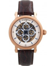 Krug-Baumen 60252DM Mens majestoso pulseira de relógio de couro marrom