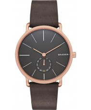 Skagen SKW6213 Mens de chocolate Hagen pulseira de couro relógio