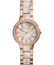 Fossil ES3716 Ladies virginia rosa e chifre relógio brilho