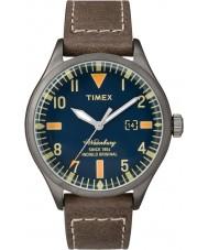 Timex TW2P83800 Homens Waterbury couro marrom relógio de pulseira