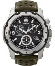 Timex T49626 Mens preto expedição campo verde robusto crono relógio