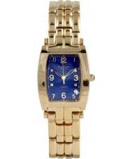 Krug-Baumen 1964DMG Tuxedo ouro 4 diamantes pulseira de ouro mostrador azul