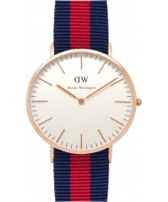 Daniel Wellington DW00100001 Mens clássico 40 milímetros oxford rosa relógio de ouro