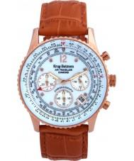 Krug-Baumen 400701DS Mens de couro laranja pulseira de relógio