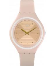Swatch SVUT100 Relógio de pele de pele