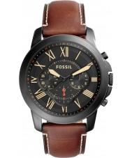 Fossil FS5241 luz concessão Mens marrom relógio cronógrafo