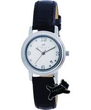 Radley RY2007 Senhoras charme de couro preto relógio pulseira