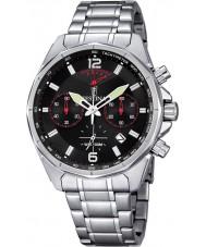 Festina F6835-2 Mens prata relógio cronógrafo desportivo