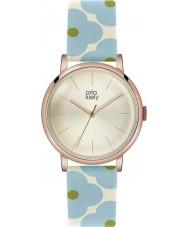 Orla Kiely OK2072 céu patricia Ladies couro florido azul relógio de pulseira
