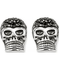 Thomas Sabo H1772-051-11 Pave brincos crânio de prata