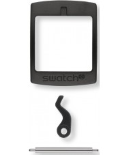 Swatch S639000222 New gent plástico preto fivela-set