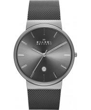 Skagen SKW6108 Mens ancher cinza malha pulseira de relógio